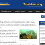 Screenshot von Tauchlampe xyz - Tauchlampen von A-Z erklaert im neuen Design